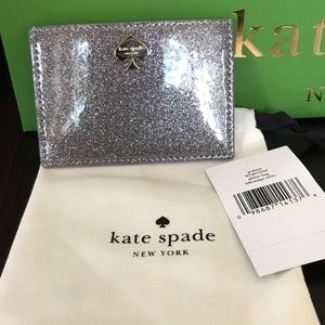 Kate Spade Glitter Bug Graham Card Holder Wallet